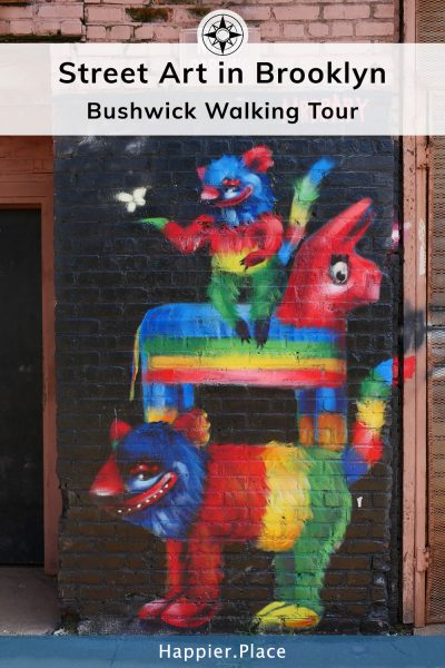 Street Art in Brooklyn Bushwick Walking Tour Mr Bbaby best rainbow