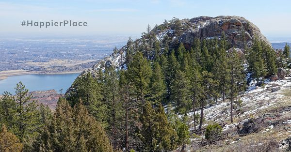 Arthurs Rock and Horsetooth Reservoir seen from above in Colorado - #HappierPlace Instagram Favorites March