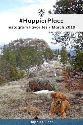 March Instagram #HappierPlace Favorites and Whiskey Dog at Arthur's Rock Colorado