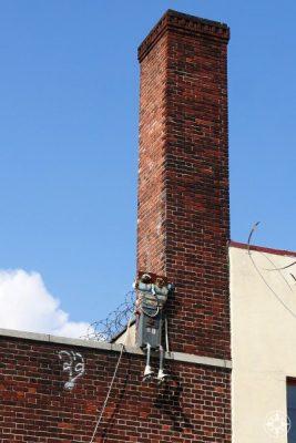 robot sculpture rooftop Brooklyn