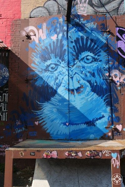 blue ape Bushwick Street Art graffiti