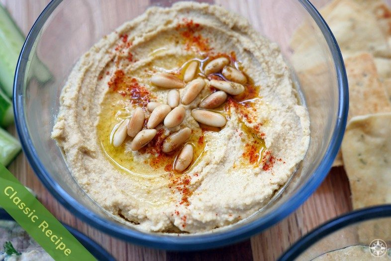 Classic Hummus Recipe with Toasted Pine Nuts and Smoked Paprika - Happier Place Recipe
