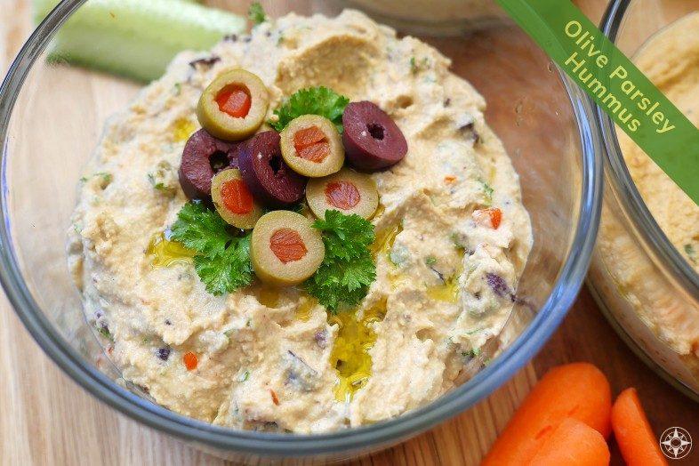 Olive Parsley Tapenade Hummus Recipe - Happier Place