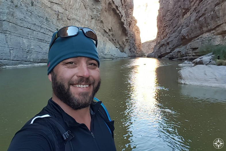 Photographer and hiking guide Jake Gray at Big Bend National Park in Texas - Happier Place