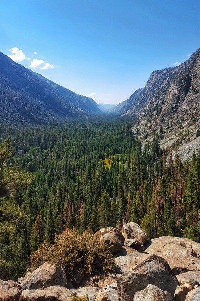 Valley along the High Sierra Trail in Sequoia National Park - California - Photo by Jake Gray.