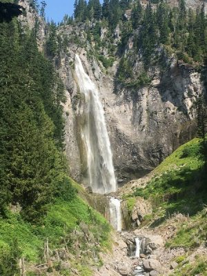 Waterfall in Mount Rainier National Park, Washington. Photo by Jake Gray. #HappierPlace