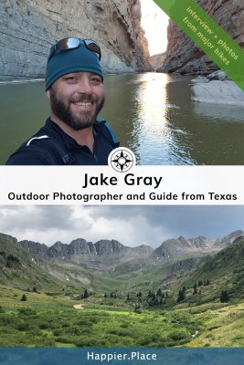 Jake Gray outdoor photographer and guide at Big Bend National Park in Texas and his photo of the Great American Basin in Colorado - #HappierPlace #hikingguide #interview #photographer #outdoor #Texas #Colorado