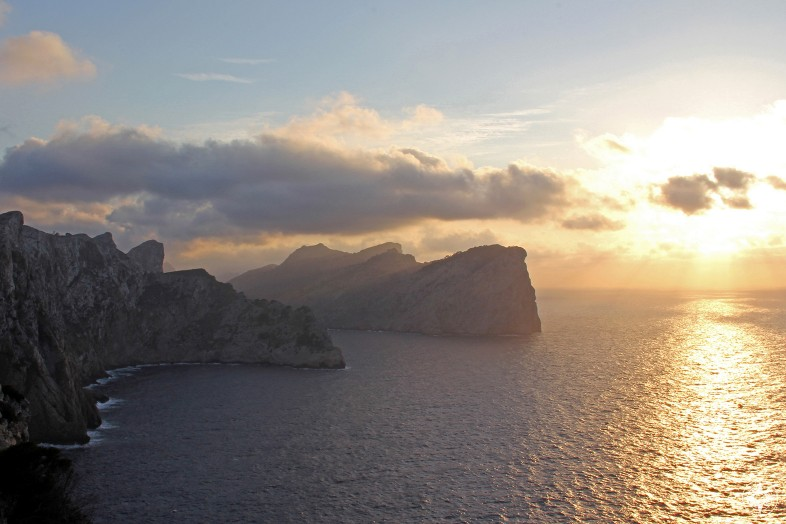 Mallorca sunset Tramuntana Formentor sunset Happier Place