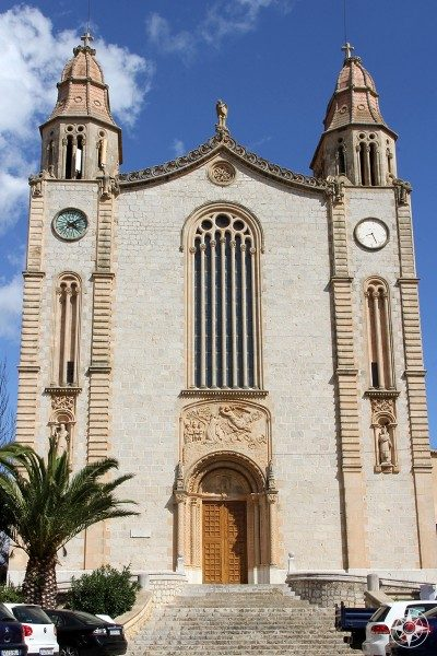 Neo-classical church of Sant Joan Baptista in Calvia, Mallorca, Spain.