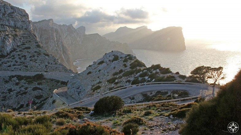 Road to the Lighthouse of Formentor and the cliffs of Serra de Tramuntana