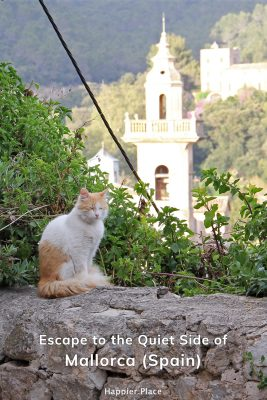 Escape to the quieter side of Mallorca (Spain) and a sleeping cat and palace tower