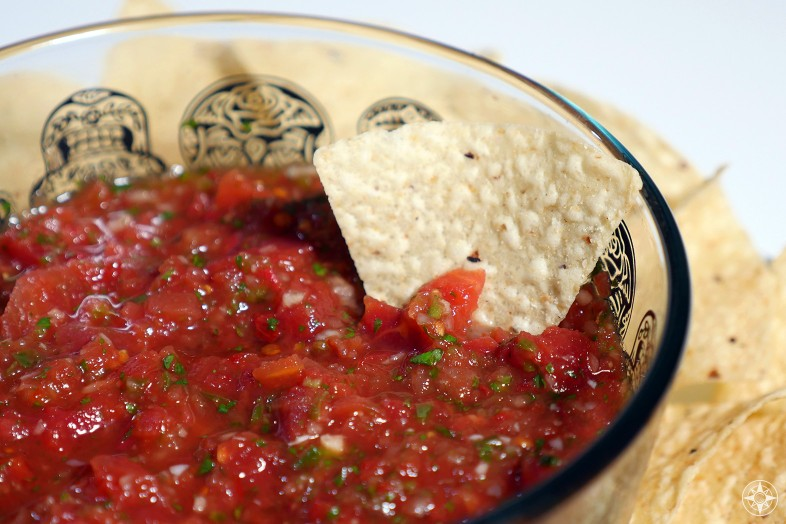Quick homemade salsa in just 15 minutes with chips