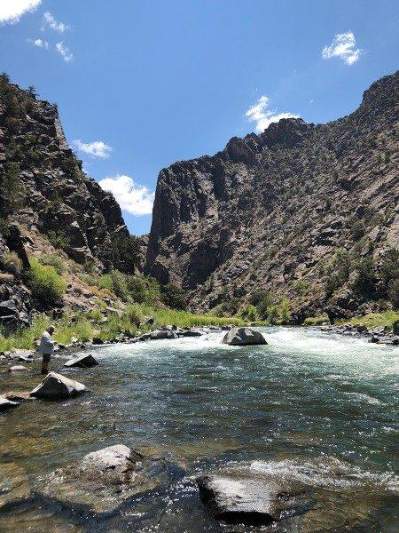 Fishing the Black Canyon of the Gunnison Colorado