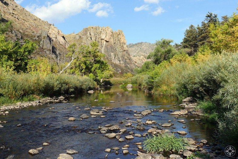 Cache la Poudre River in Gateway Natural Area, Colorado.