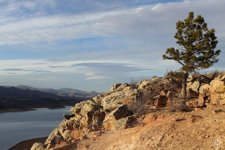 Horsetooth Reservoir in Ft. Collins, Colorado. Happier Place