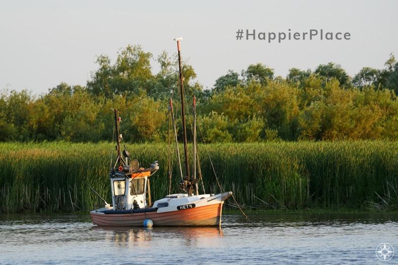 Classic German fishing boat in Haseldorf Elbe #HappierPlace June 2019