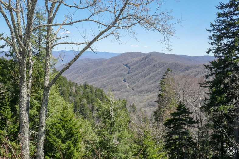 Great Smoky Mountains National Park road over the peaks Happier Place