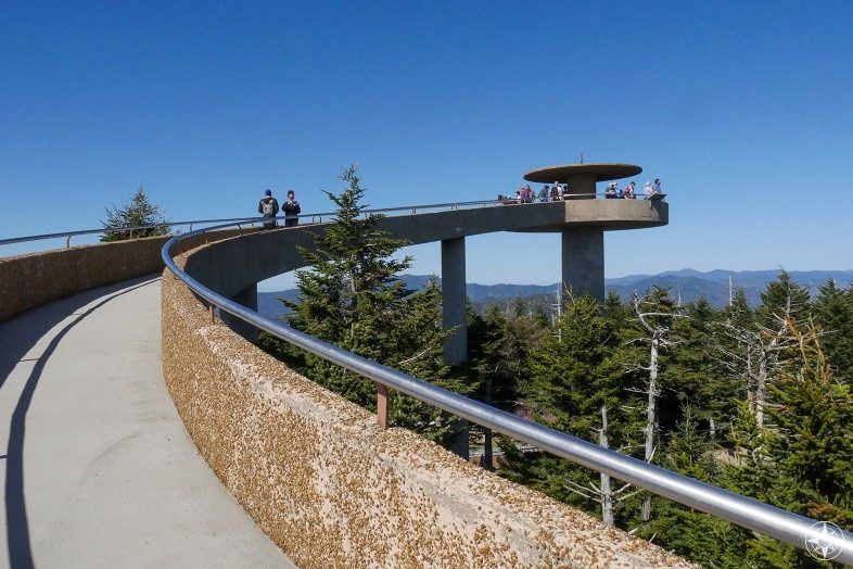 Clingmans Dome Tower ramp up