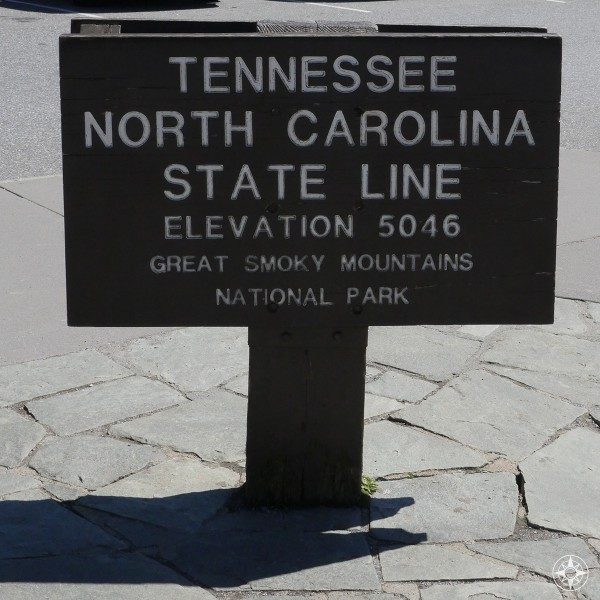 Tennessee North Carolina State Line Smoky Mountains