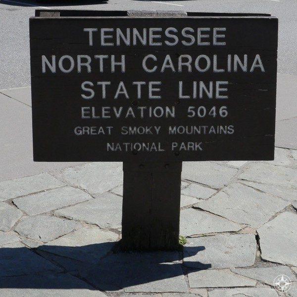 Tennessee North Carolina State Line Smoky Mountains