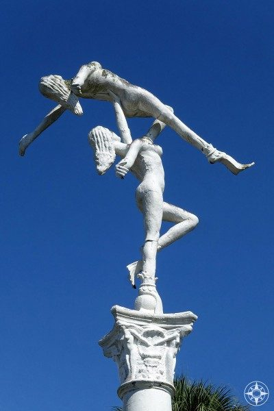 Mid-Century Roadside Attraction statue of mermaid dancers of Weeki Wachee