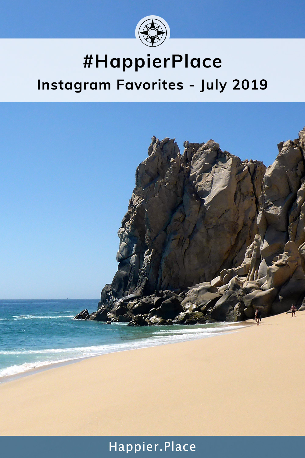 Monthly round-up of photos tagged #HappierPlace by photographers from around the world. Despite its name, Divorce Beach in Los Cabos, Mexico, is a #HappierPlace and represents Instagram outdoor and travel photos well.