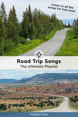 Road Trips Songs Playlist and views of highway in Alaska and New Mexico