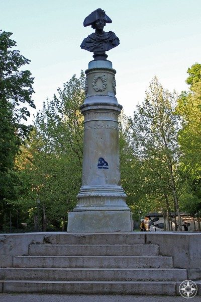 Bust of namesake Friedrich der Grosse, Frederick the Great in Friedrichshain Park