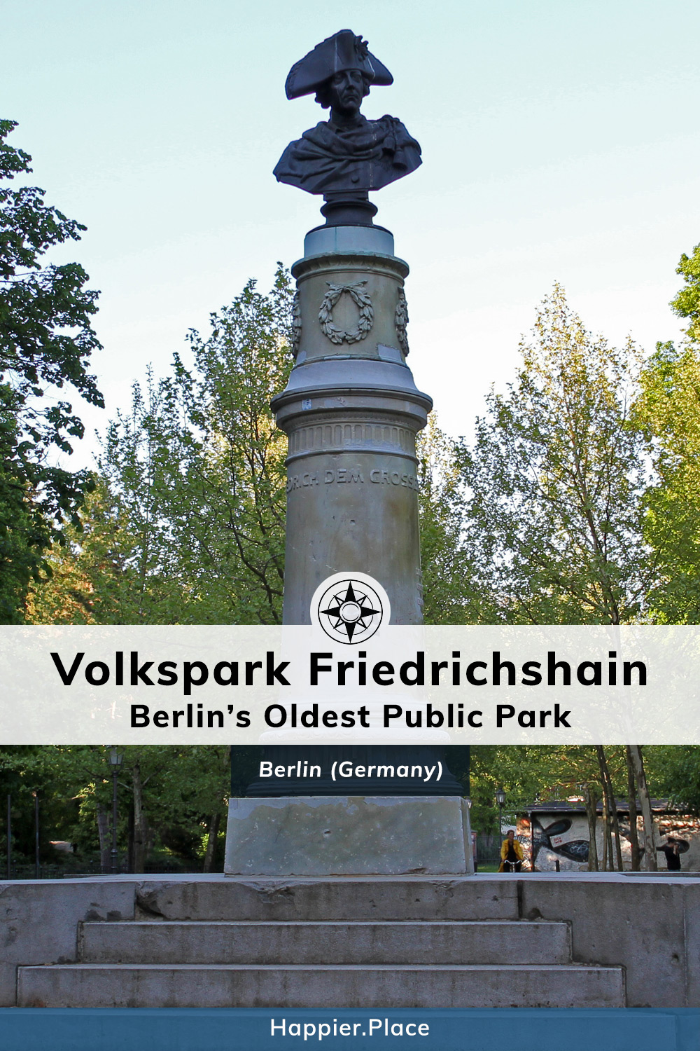 Volkspark Friedrichshain, Berlin, Germany, statue, bust, Frederick the great, Friedrich der Grosse