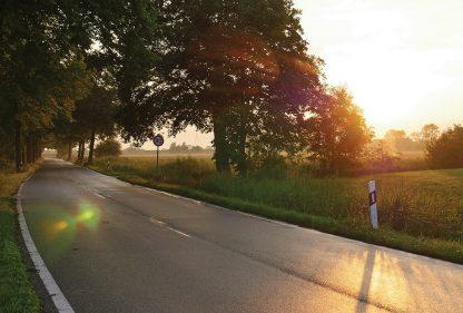 road, sunset, Germany, Haseldorfer Marsch, Haselau, 80, Postkarte