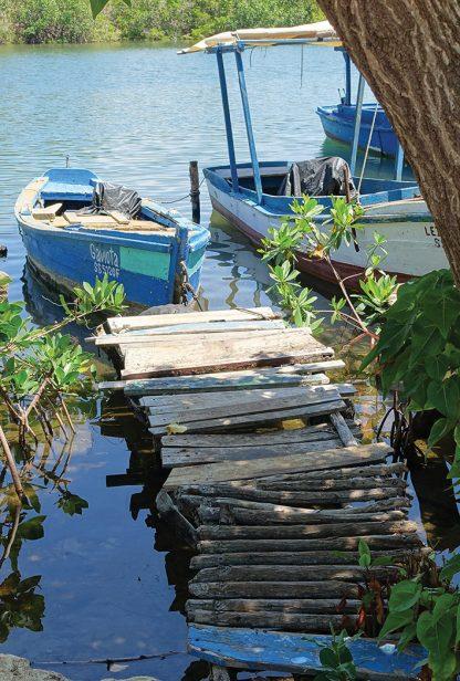 Fishing boats harbor in La Boca, Cuba