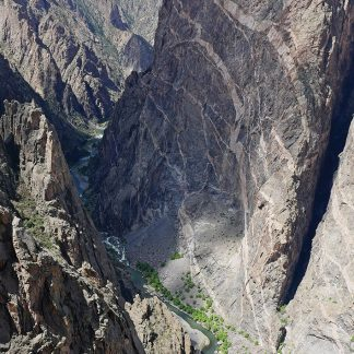 Painted Wall, Black Canyon of the Gunnison, Colorado, postcard
