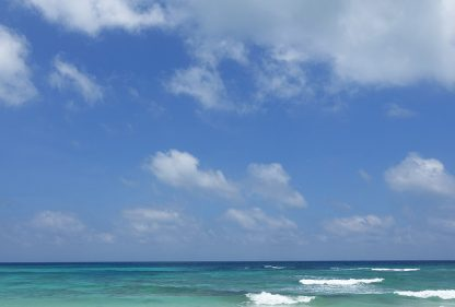Clear sea and big sky, Sian Ka'an Biosphere, near Tulum, Mexico