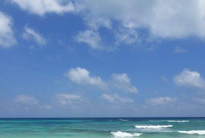 Clear sea and big sky, Sian Ka'an Biosphere, near Tulum, Mexico