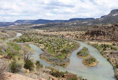 Rio Chama River, New Mexico, near Ghost Ranch, Abiquiu, river postcards