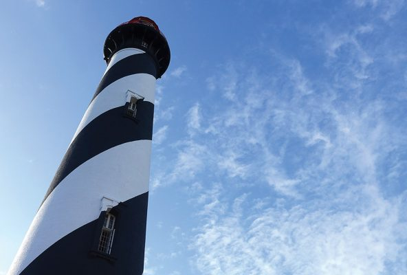 Black and white lighthouse, St. Augustine, Florida.