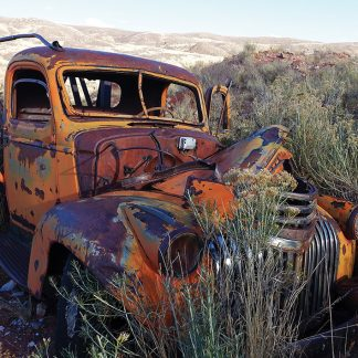 Abandoned, rusted patina classic truck in a field in Colorado. Classic rurex!