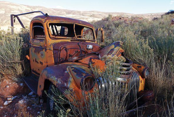 Abandoned, rusted patina classic truck in a field in Colorado. Classic rurex!
