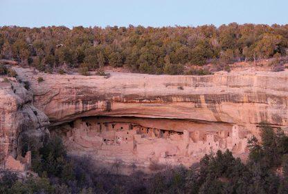 Ancient cliff dwelling village in Mesa Verde National Park, Colorado, abandoned postcard