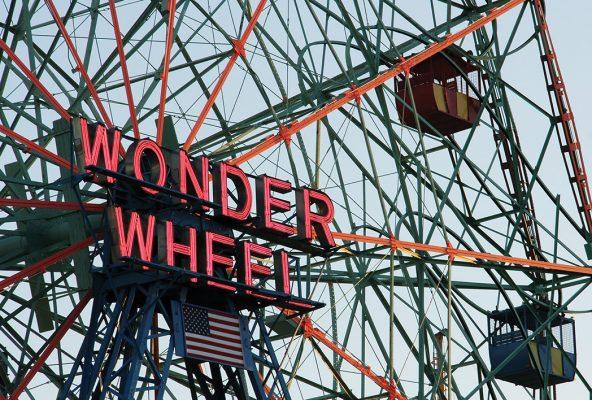 Wonder Wheel, ferris wheel, Coney Island, Brooklyn, NYC, iconic postcard