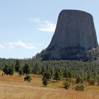 Devils Tower, Bear Lodge, Wyoming, iconic nature postcard