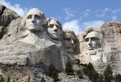 Mount Rushmore, South Dakota, iconic postcard