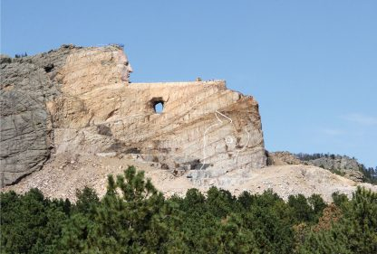 Work-in-progress Crazy Horse Monument in South Dakota