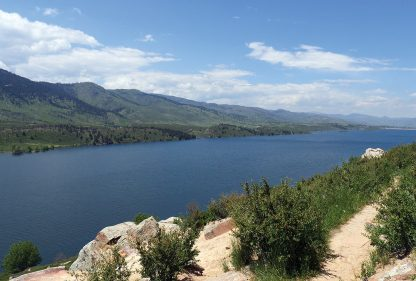 Horsetooth Reservoir, Colorado, lake postcard