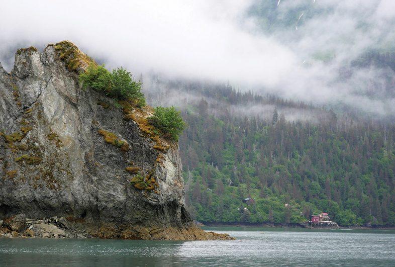 House in cove off Kachemak Bay, Alaska