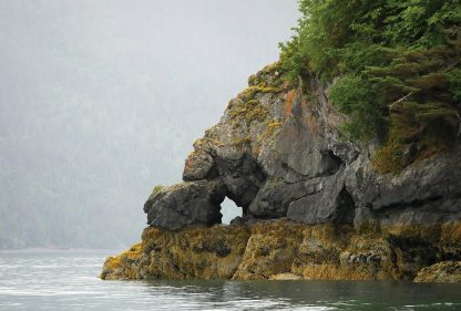 Kachemak Bay Cove entrance, near Homer, Alaska postcard