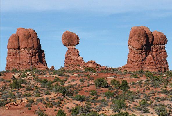 Balanced Rock Group, Arches National Park, Utah, rock formation postcard