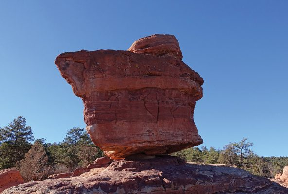 Balanced Rock, Garden of the Gods, Colorado, rock formation postcards