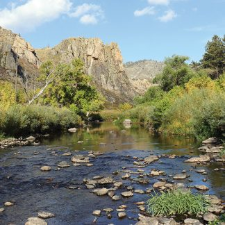 Fly Fishing River in Colorado, Cache la Poudre River, Gateway, river postcards