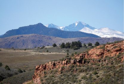 Longs Peak, Rocky Mountain National Park, seen from Horsetooth Open Space, Colorado